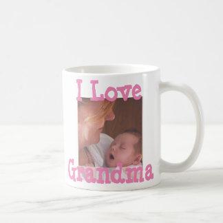 Eu amo a caneca de café personalizada avó