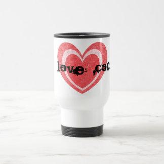 EU AMO a caneca de viagem do café