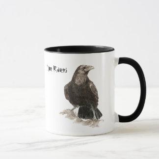 Eu amo a caneca dos corvos
