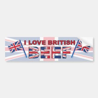 Eu amo a carne britânica adesivo para carro