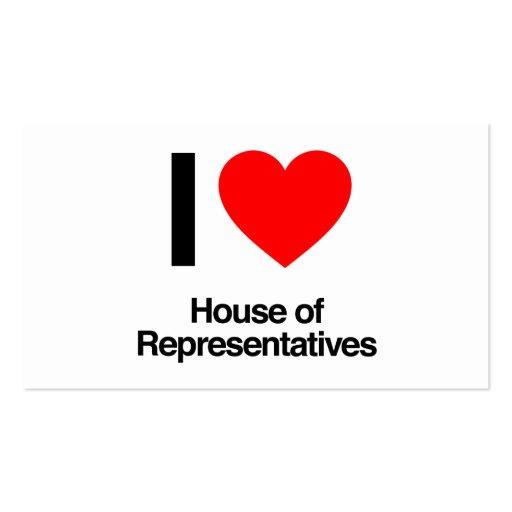 eu amo a casa de representantes cartões de visita
