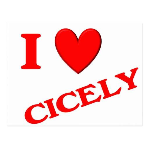 Eu amo a Cecília Cartão Postal