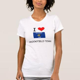 Eu amo a cidade Wisconsin de Brookfield T-shirt