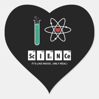 Eu amo a ciência - etiqueta
