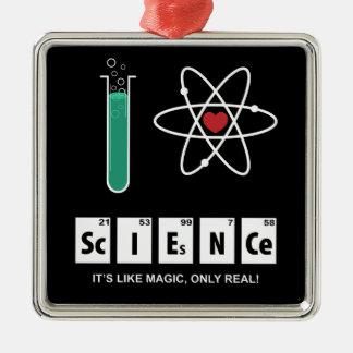 Eu amo a ciência - ornamento