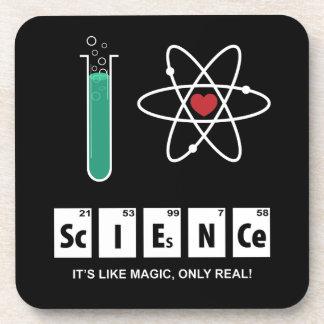 Eu amo a ciência - porta copos da cortiça