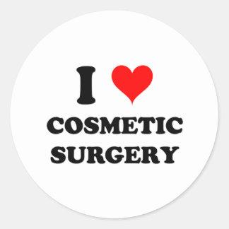 Eu amo a cirurgia estética adesivo