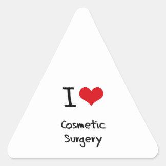 Eu amo a cirurgia estética adesivo triangular