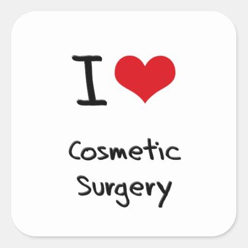 Eu amo a cirurgia estética adesivos quadrados