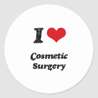 Eu amo a cirurgia estética adesivos em formato redondos