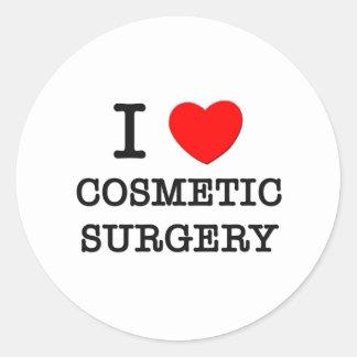 Eu amo a cirurgia estética adesivos