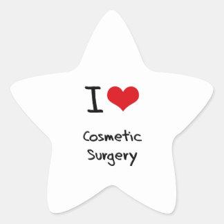 Eu amo a cirurgia estética adesivo em forma de estrela