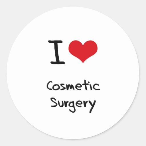Eu amo a cirurgia estética adesivo redondo