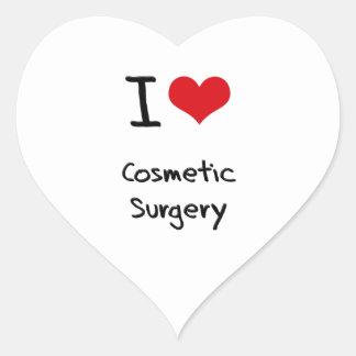 Eu amo a cirurgia estética adesivo em forma de coração