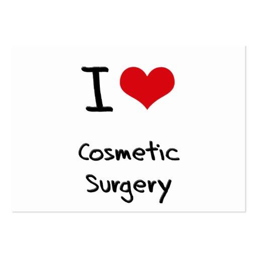 Eu amo a cirurgia estética modelos cartao de visita
