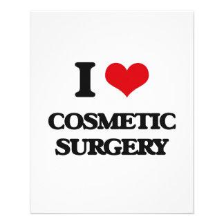 Eu amo a cirurgia estética panfleto