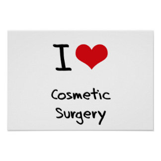 Eu amo a cirurgia estética poster