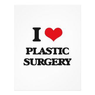 Eu amo a cirurgia plástica modelos de panfleto