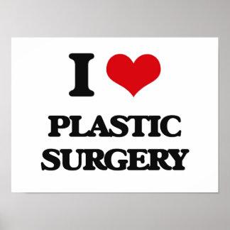 Eu amo a cirurgia plástica posters