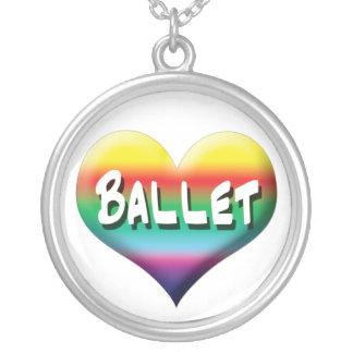Eu amo a colar do arco-íris do balé