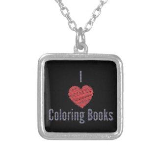 Eu amo a colar dos livros para colorir