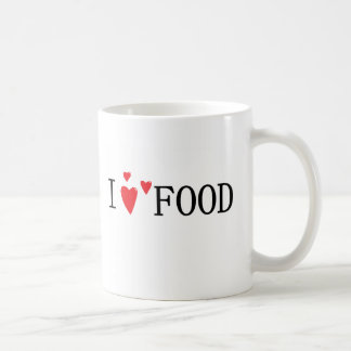 Eu amo a comida caneca de café