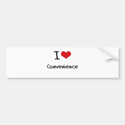 Eu amo a conveniência adesivos