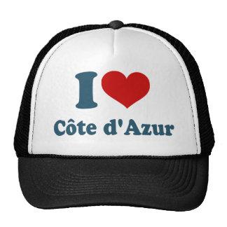 Eu amo a costa Azur Boné