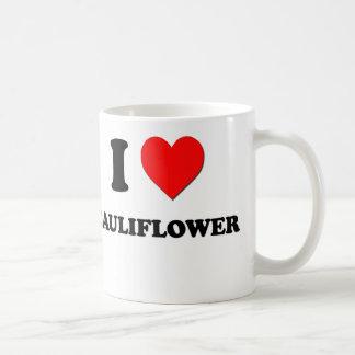 Eu amo a couve-flor caneca de café