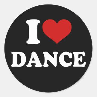 Eu amo a dança adesivo