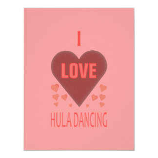 Eu amo a dança de Hula Convites Personalizados