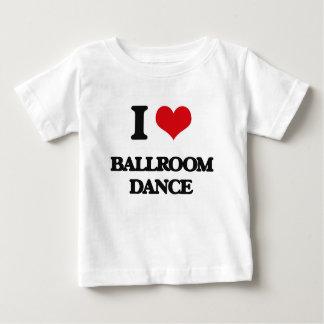 Eu amo a dança de salão de baile tshirt