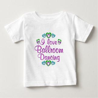 Eu amo a dança de salão de baile t-shirt