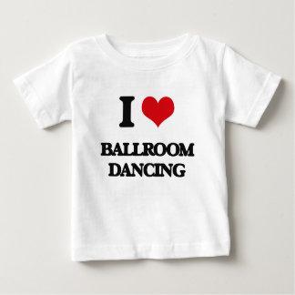 Eu amo a dança de salão de baile camiseta