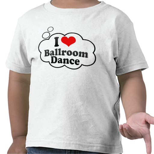 Eu amo a dança de salão de baile camisetas