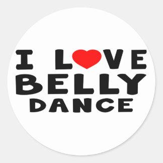Eu amo a dança do ventre adesivos