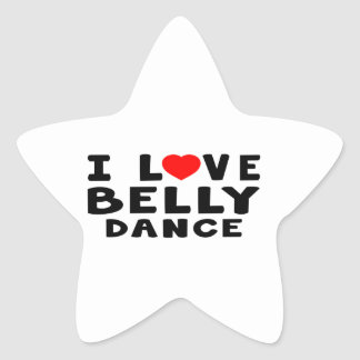 Eu amo a dança do ventre adesivos estrelas