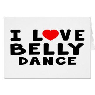 Eu amo a dança do ventre cartões