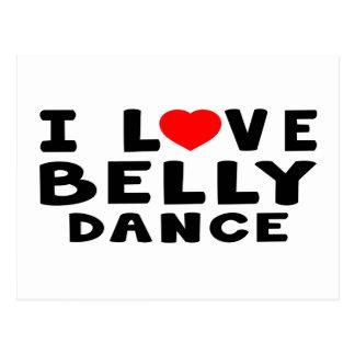 Eu amo a dança do ventre cartão postal