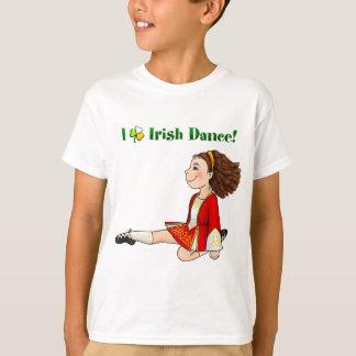 Eu amo a dança irlandesa camiseta