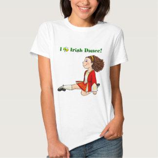 Eu amo a dança irlandesa tshirt