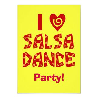 Eu amo a dança que da salsa o dance party feito convites
