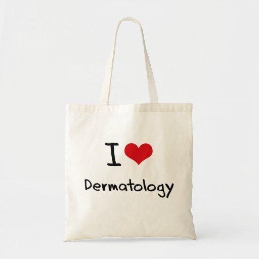 Eu amo a dermatologia bolsa para compras