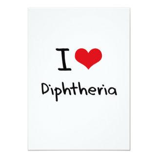 Eu amo a difteria convites personalizado