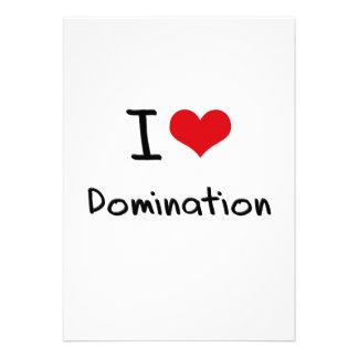 Eu amo a dominação convite personalizados