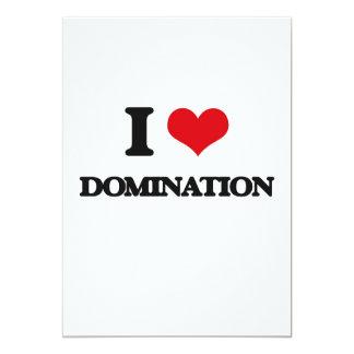 Eu amo a dominação convite 12.7 x 17.78cm