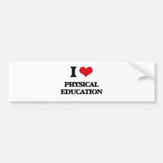 Eu amo a educação física adesivo