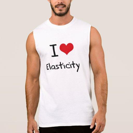 Eu amo a elasticidade camiseta sem manga