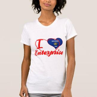 Eu amo a empresa, Wisconsin Tshirt