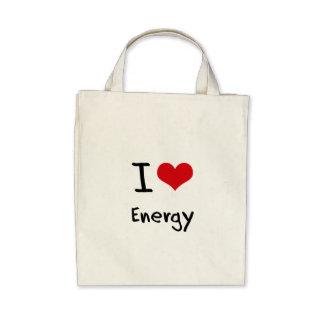 Eu amo a energia bolsa para compras